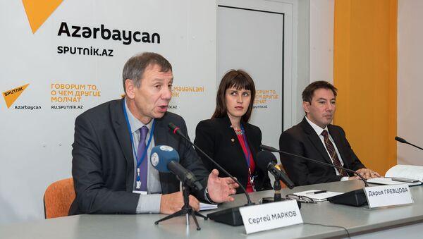 Член Общественной палаты РФ, политолог Сергей Марков в Мультимедийном пресс-центре Sputnik Азербайджан - Sputnik Азербайджан