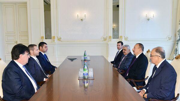 Президент Азербайджанской Республики Ильхам Алиев принял президента УЕФА Александера Чеферина - Sputnik Азербайджан