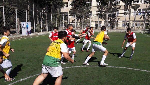 14 yaşlılardan ibarət Qarabağ reqbi komandası - Sputnik Azərbaycan