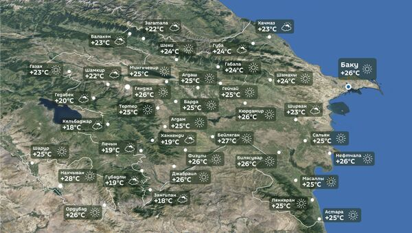 Прогноз погоды на 4 октября - Sputnik Азербайджан