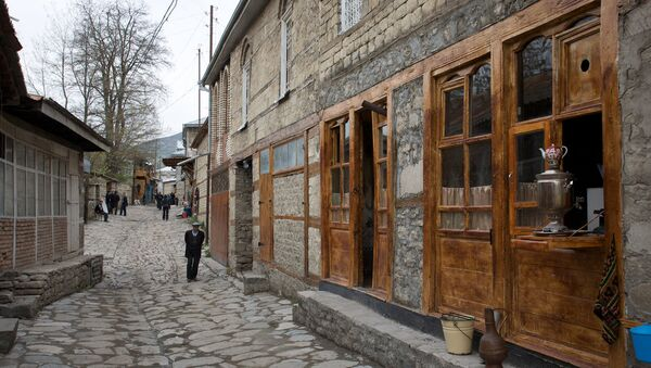 Дома в поселке Лагич Исмаиллинского района Азербайджана - Sputnik Азербайджан