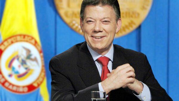 Президент Колумбии Хуан Мануэль Сантос - Sputnik Азербайджан