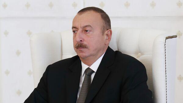 Президент Ильхам Алиев на заседании Кабинета Министров Азербайджана - Sputnik Азербайджан