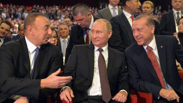 Putin, Ərdoğan və Əliyev - Sputnik Azərbaycan