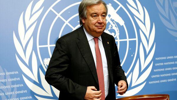 Антониу Гутерреш, генеральный секретарь ООН - Sputnik Азербайджан