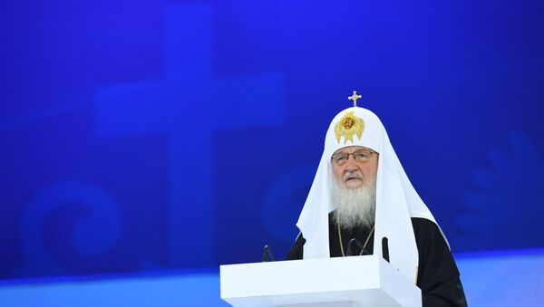 Патриарх Московский и всея Руси Кирилл, архивное фото - Sputnik Азербайджан