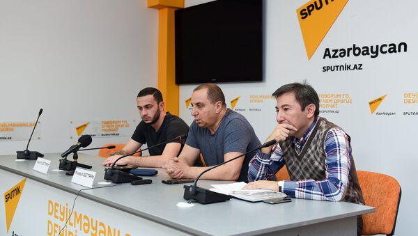В Мультимедийном пресс-центре Sputnik Азербайджан прошла встреча с журналистами кинопродюсера Михаила Дегтяря на тему Фильм Коробка - Sputnik Азербайджан