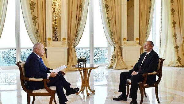 Президент Азербайджана Ильхам Алиев ответил на вопросы Дмитрия Киселева - Sputnik Азербайджан