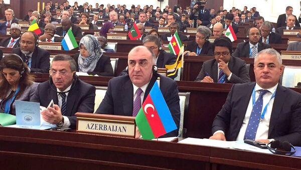 Глава МИД АР Эльмар Мамедьяров на 43-й сессии совета министров иностранных дел ОИК - Sputnik Азербайджан