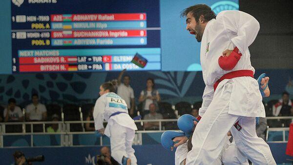 Четырехкратный чемпион мира и тринадцатикратный чемпион Европы, азербайджанский каратист Рафаэль Агаев - Sputnik Азербайджан