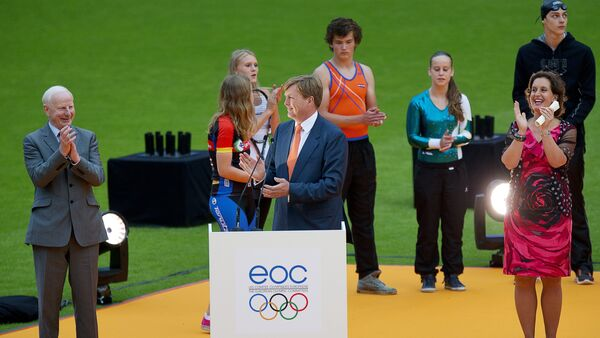 Церемония открытия Европейского юношеского олимпийского фестиваля – Утрехт, Нидерланды, 14 июля 2013 годв - Sputnik Азербайджан