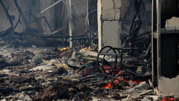 Пожар в кафе, архивное фото - Sputnik Азербайджан