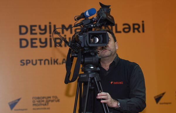 Пресс-конференция на тему Подведение итогов Бакинского Международного джаз-фестиваля и планы на перспективу - Sputnik Азербайджан