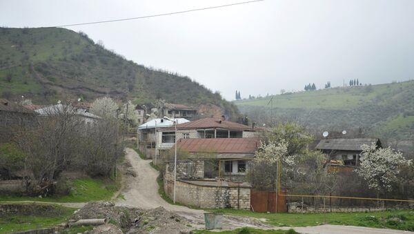 Азербайджанский город Агдере, находящийся под оккупацией Армении, фото из архива - Sputnik Азербайджан