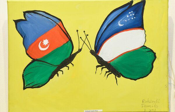 Выставка Узбекистан глазами азербайджанских детей - Sputnik Азербайджан
