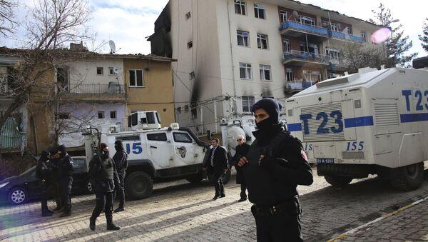 Türk polisi Çinar ərazisinin təhlükəsizliyi qoruyur, arxiv şəkli - Sputnik Азербайджан