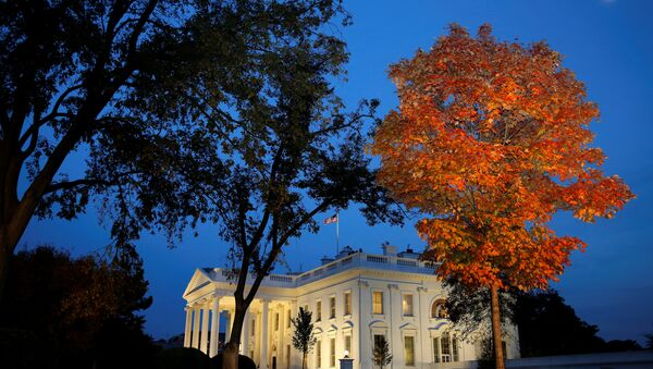 Белый дом в ночь выборов, 8 ноября 2016 года - Sputnik Азербайджан