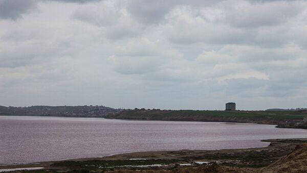Соленое озеро на Масазыре - Sputnik Азербайджан