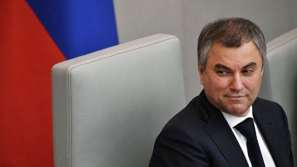 Председатель Государственной Думы РФ Вячеслав Володин - Sputnik Azərbaycan
