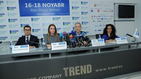 Пресс-конференция, посвященная проведению в Баку Международной выставки в области охраны окружающей среды Caspian Ecology 2016 - Sputnik Азербайджан