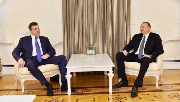 Президент Ильхам Алиев принял председателя комитета по международным делам Государственной Думы России - Sputnik Азербайджан