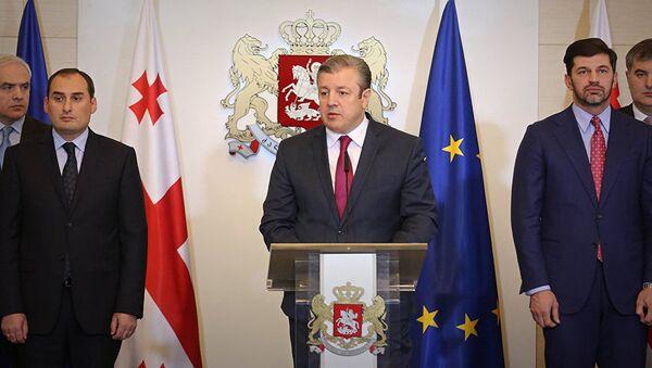 Премьер-министр Грузии Георгий Квирикашвили на заседании парламента - Sputnik Азербайджан