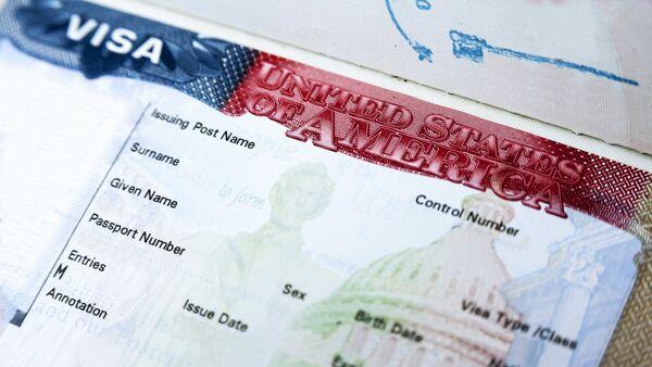 Американская виза, фото из архива - Sputnik Азербайджан