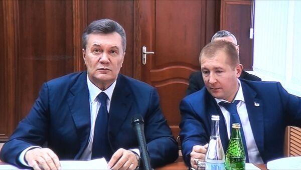 Янукович прокомментировал прерванный допрос - Sputnik Азербайджан