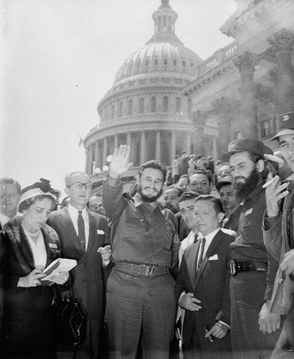 Фидель Кастро в Вашингтоне - Sputnik Азербайджан