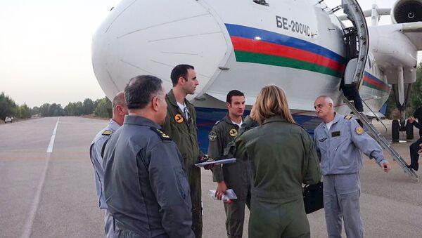 Cамолет–амфибия BE-200ÇS МЧС Азербайджана продолжает участвовать в тушении пожаров в Израиле - Sputnik Азербайджан