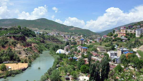 Вид на город Тунджели, фото из архива - Sputnik Азербайджан