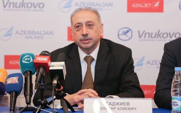 Вице-президент авиакомпании AZAL Эльдар Гаджиев - Sputnik Азербайджан