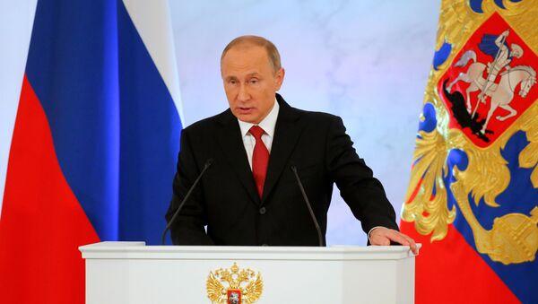 Владимир Путин обращается с ежегодным посланием к Федеральному Собранию - Sputnik Азербайджан
