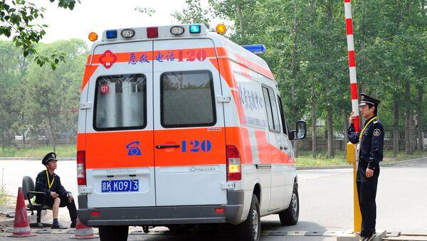 Карета скорой помощи в Китае, фото из архива - Sputnik Азербайджан
