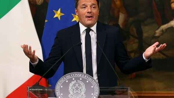 Премьер-министр Италии Маттео Ренци - Sputnik Азербайджан
