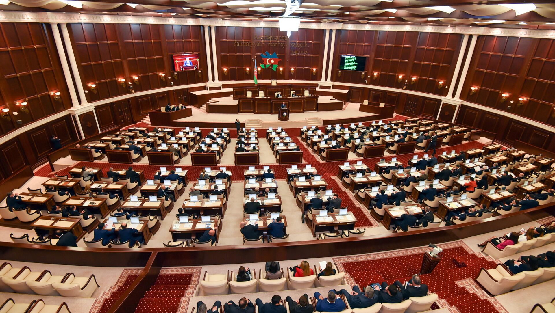 Заседание парламента Азербайджана, фото из архива - Sputnik Azərbaycan, 1920, 02.07.2021