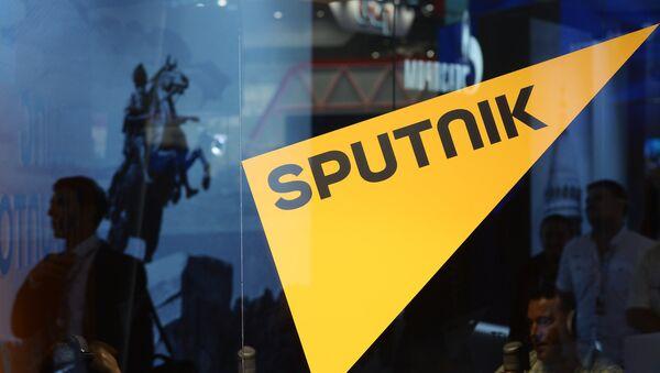 Логотип информационного агентства и радио Sputnik - Sputnik Азербайджан