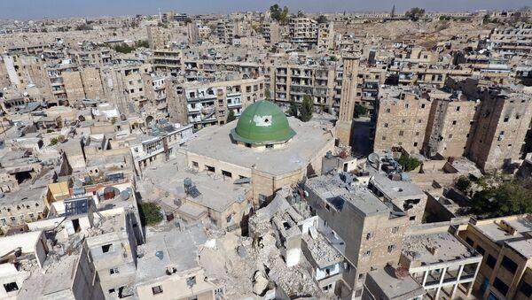 Разрушения в Старом городе Алеппо, Сирия - Sputnik Азербайджан