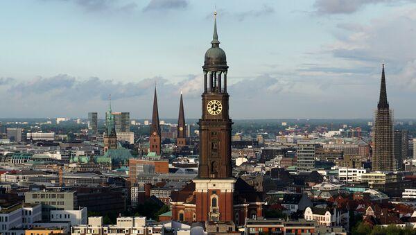 Вид на Гамбург, фото из архива - Sputnik Азербайджан