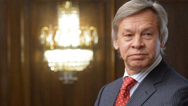 Председатель комитета Государственной Думы РФ по международным делам Алексей Пушков, фото из архива - Sputnik Азербайджан