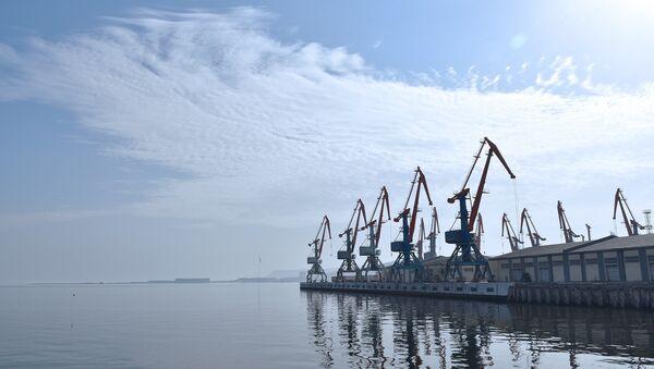 Портовые краны в Бакинском морском торговом порту - Sputnik Азербайджан