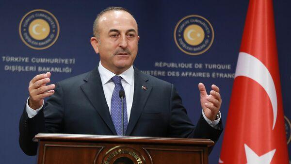 Министр иностранных дел Турции Мевлют Чавушоглу - Sputnik Азербайджан