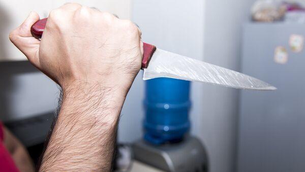 Нож в руке, фото из архива - Sputnik Azərbaycan