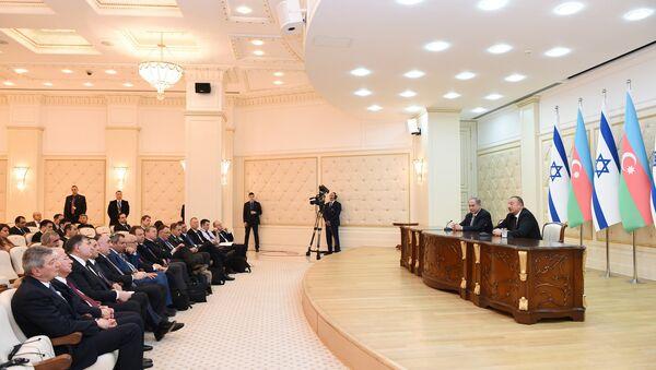 Ильхам Алиев и Премьер-министр Биньямин Нетаньяху выступили с заявлениями для печати - Sputnik Азербайджан