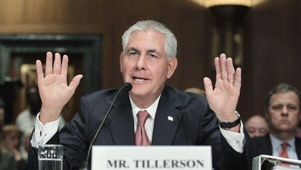 Глава крупнейшей нефтяной компании страны ExxonMobil Рекс Тиллерсон - Sputnik Азербайджан