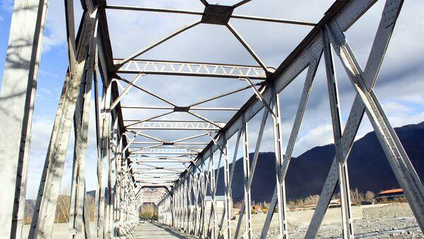 Стальной мост в Гахе - Sputnik Азербайджан