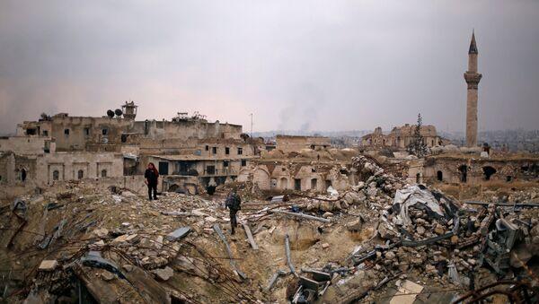 Разрушения в Алеппо, фото из архива - Sputnik Азербайджан