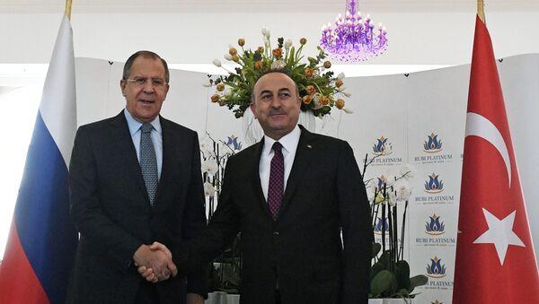 Lavrov və Çavuşoğlu - Sputnik Azərbaycan