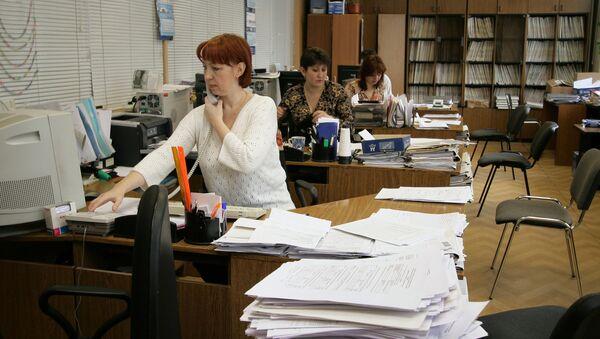 Офисные работники, фото из архива - Sputnik Азербайджан