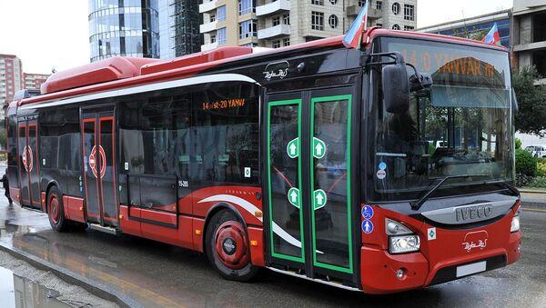 Пассажирский автобус в Баку, фото из архива - Sputnik Азербайджан